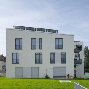 "Halle vyrástlo unikátnych päť nových bytových domov s názvom ""Eigene Scholle"""