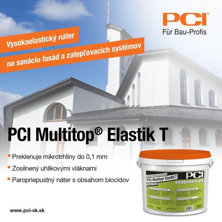 Silikónový, trhliny preklenujúci fasádny náter PCI Multitop® Elastik T s vysokou vodoodpudivosťou a difúznou schopnosťou. Náter …