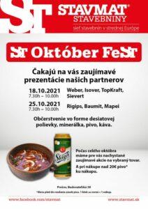 ST Október FeST PREŠOV 🍻 Nezmeškajte zaujímavé akcie a prezentácie v rámci mesiaca október! 😊 Viac info na: https://www.stavmat….