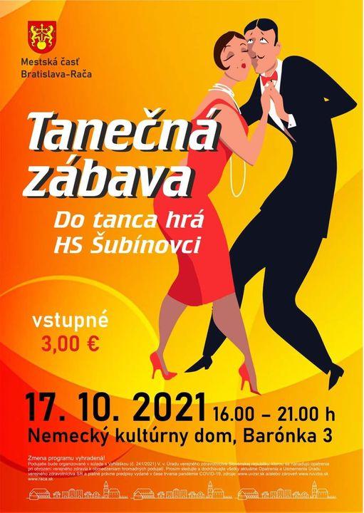 Pozývame vás na tanečnú zábavu do Nemeckého kultúrneho domu, ktorá sa uskutoční už dnes v nezmenenom čase od 16.00 do 21.00 h. 🥳…