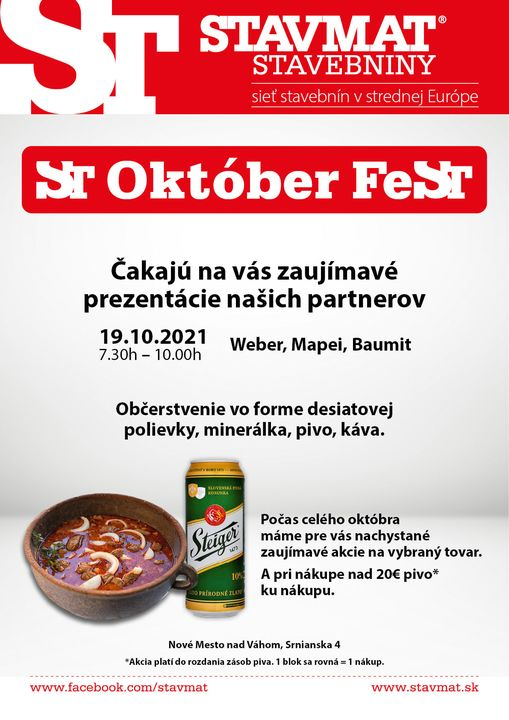 ST Október FeST Nové Mesto nad Váhom 🍻 Nezmeškajte zaujímavé akcie a prezentácie v rámci mesiaca október! 😊 Viac info na: https:…